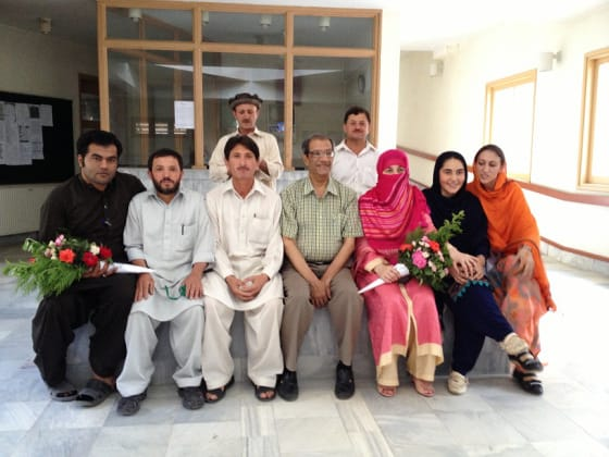 Dr. Badrudin Kurwa with the amazing staff pictured in Shogore, Chitral. Photo: Badrudin Kurwa Collection. Copyright.